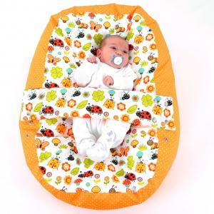 Relaxačný vak LIENKA oranžová 100% bavlna 6
