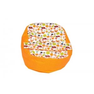 Relaxačný vak LIENKA oranžová 100% bavlna