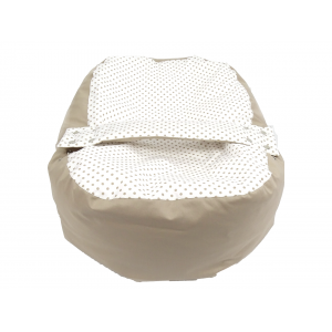 Relaxačný vak BODKA béžová 100% bavlna 6