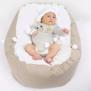 Relaxačný vak BODKA béžová 100% bavlna 12