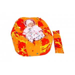 Relaxačný vankúš ŽIRAFA oranžová  3