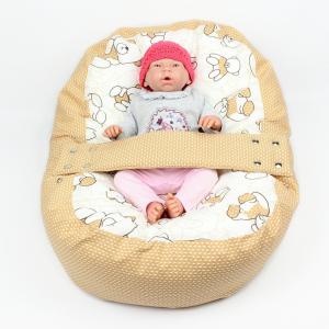 Relaxačný vak MACKO HNĚDÝ 100% bavlna