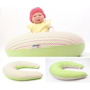 Dojčiace vankúš Maxi VLNY ZELENÉ 100% bavlna