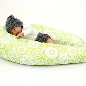Dojčiace vankúš Maxi KOLA ZELENÁ 100% bavlna 1