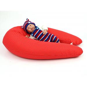 Vankúš na kojenie Maxi BODKA ČERVENÁ 100% bavlna 2