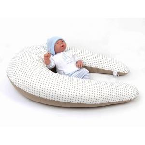Dojčiace vankúš Maxi BODKA DVOJFAREBMÁ BÉŽOVÁ 100% bavlna