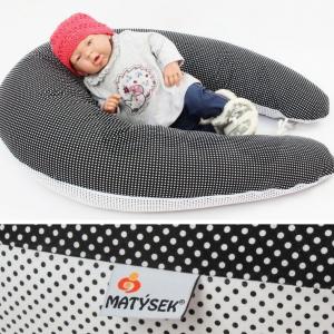 Dojčiace vankúš Maxi BODKA ČIERNOBIELA, 100% bavlna
