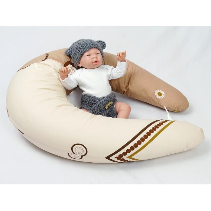 Dojčiace vankúš Maxi KOLA HNĚDÁ 100% bavlna 4