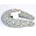 Dojčiace vankúš Maxi hviezda šedá 100% bavlna 1