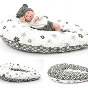 Dojčiaci vankúš Maxi LÚKA ČIERNOBIELA 100% bavlna 2