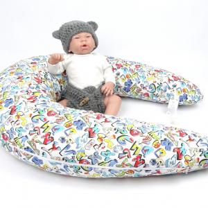 Dojčiaci vankúš Maxi GRAFITTI 100% bavlna