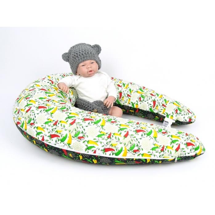 Dojčiaci vankúš Maxi PAPRIČKY 100% bavlna