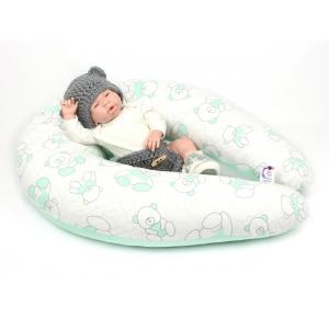Dojčiaci vankúš Maxi MACKO ZELENÝ 100% bavlna 1