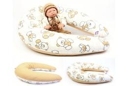 Dojčiaci vankúš Maxi MACKO HNĚDÝ 100% bavlna