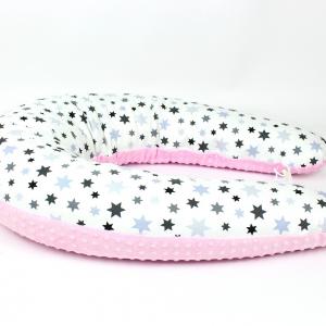 Dojčiaci vankúš Maxi STAR RŮŽOVÝ colormix