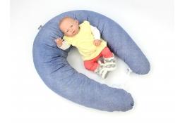Vankúš na dojčenie Maxi DENIM 100% bavlna