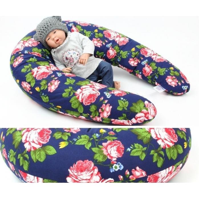 Dojčiaci vankúš Maxi RŮŽE 100% bavlna 205cm