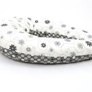 Dojčiaci vankúš Štandard LÚKA ČIERNOBIELA, 100% bavlna