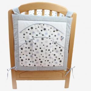 Vreckár na postieľku STAR 100% bavlna, päť veľkých vreciek