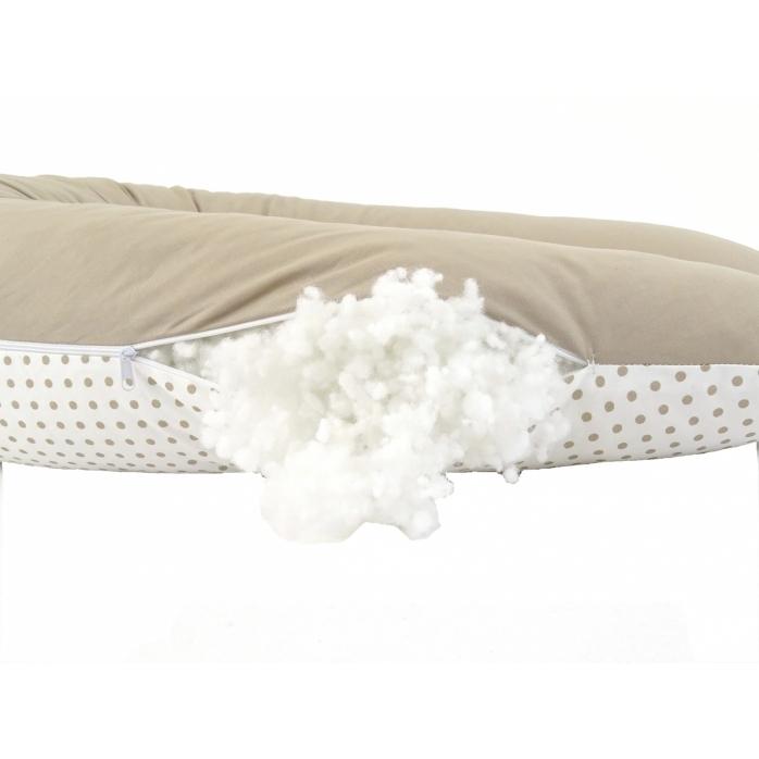 Lacný dojčiaci vankúš Standard BODKA DVOUFAREBNÁ BÉŽOVÁ 100% bavlna 4