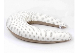 Lacný dojčiaci vankúš Standard BODKA DVOUFAREBNÁ BÉŽOVÁ 100% bavlna