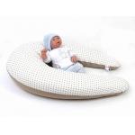 Lacný dojčiaci vankúš Maxi BODKA DVOUFAREBNÁ BÉŽOVÁ 100% bavlna2